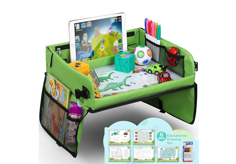 Multi function snack and play perfect in travel for baby's entertainment.