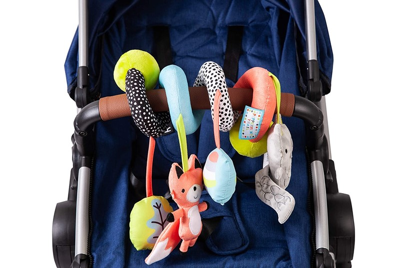 Unique, colorful spiraloo peppermint trail for babies entertainment.
