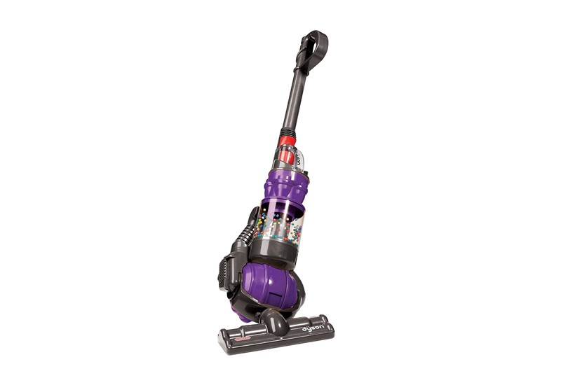 Realistic vacuum with colorful spinning balls inside perfect for kids to have fun and learning while helping in cleaning.