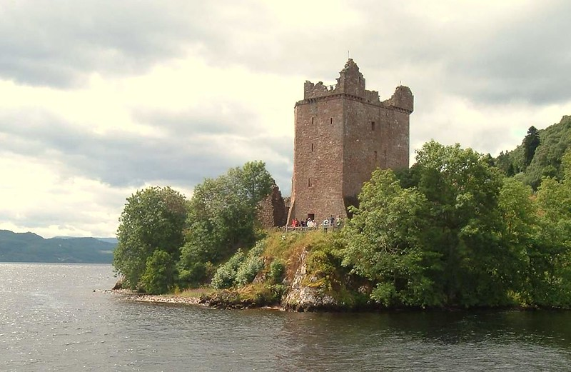 View of Urquhart Castle from Loch Ness.