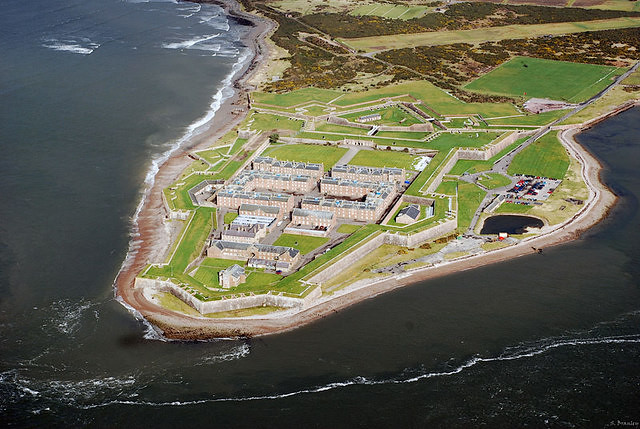Aerial view of Fort George.