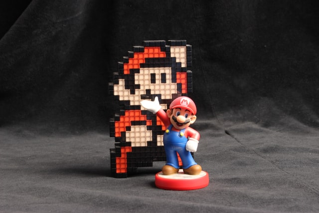 (Super Mario game is available on a variety of gaming platforms.