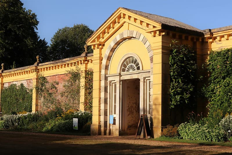The grand entrance to the walled garden.