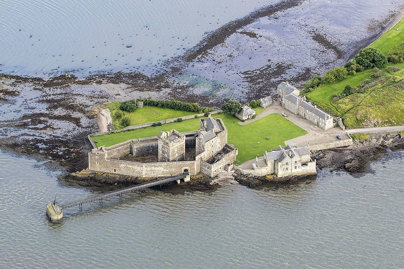 Aerial view of Blackness Castle.