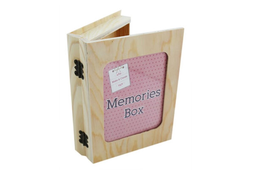 Durable and unique wooden memories box for keeping the exciting milestone.