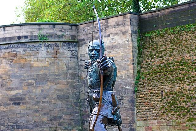 Robin Hood is one the most famous archers.