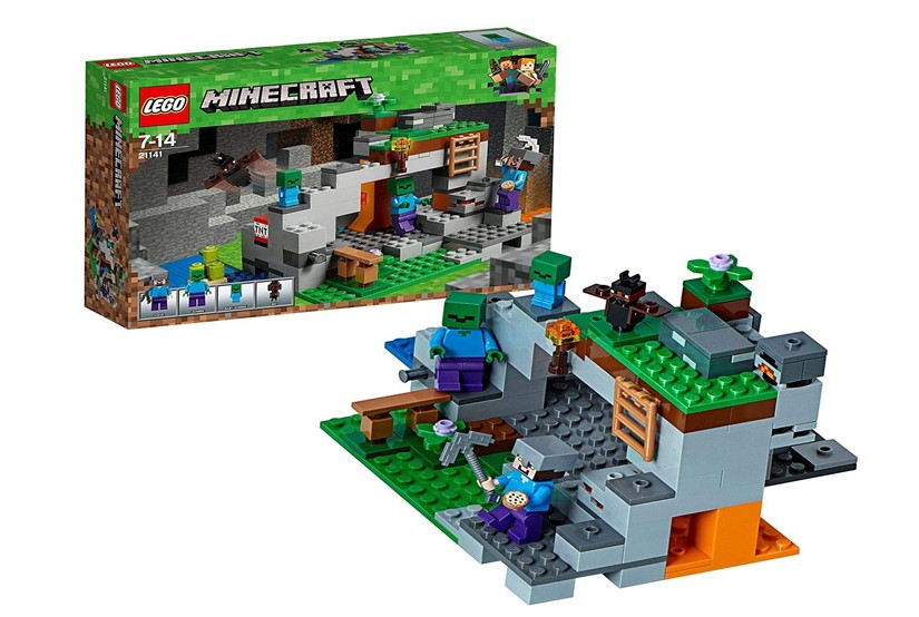 Set of lego zombie cave with complete ore elements of Minecraft perfect for creative building.