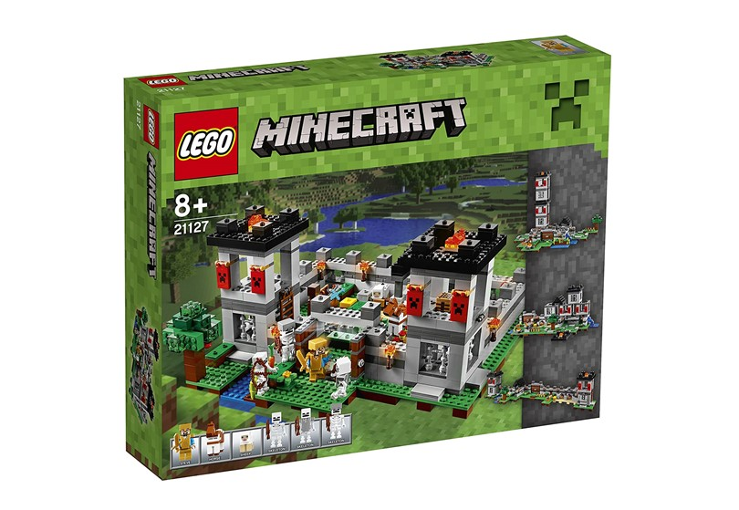 Set of battle fortress Lego Minecraft for girls and boys .