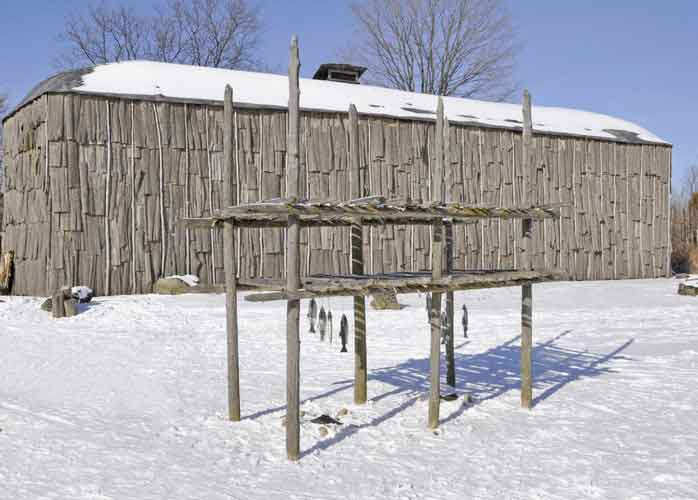 The Iroquois were known for many things, one of those was their traditional loghouses which still stand today.