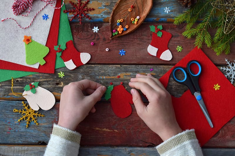 Making and putting up the Christmas decorations is a fun activity that gets everyone in the festive spirit.
