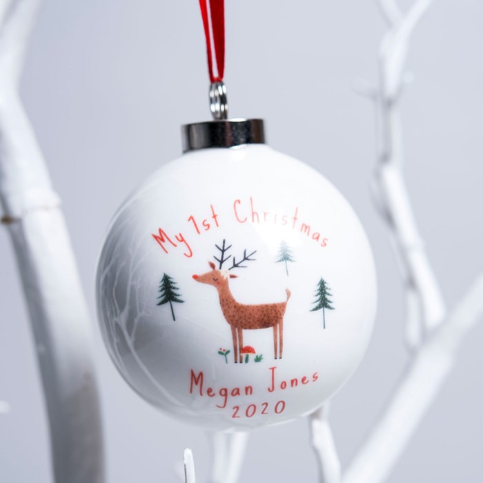 Getting Personal Personalised Reindeer Bauble