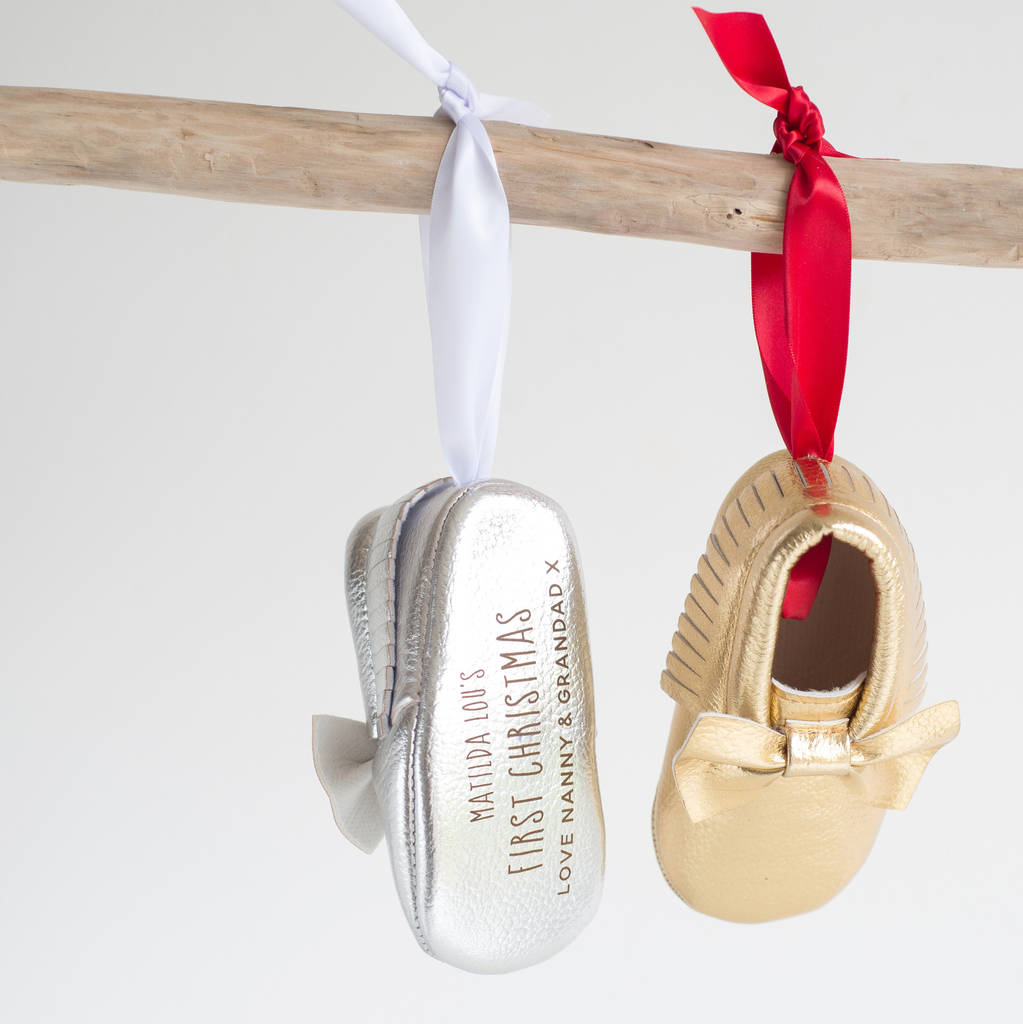 Oh So Cherished First Christmas Bootie Tree Decoration