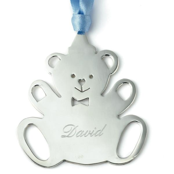 Braybrook & Britten Teddy Edward Sterling Silver Christmas Decoration