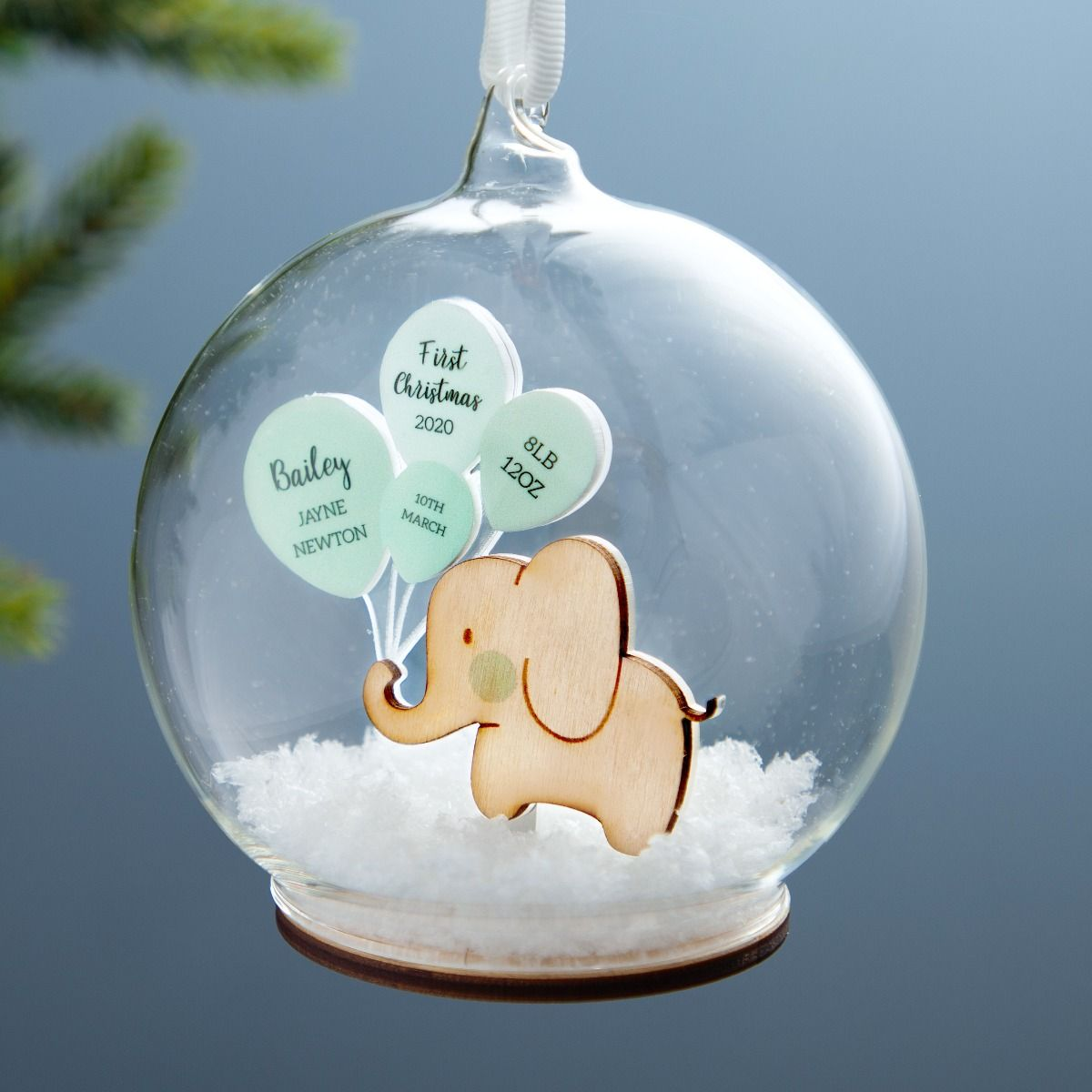 No Ordinary Gift First Christmas Baby Details Bauble