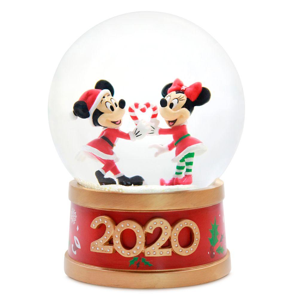 Disney Mickey & Minnie Holiday Cheer Snow Globe