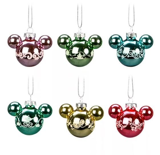 Disneyland Paris Mickey Mouse Icon Hanging Baubles