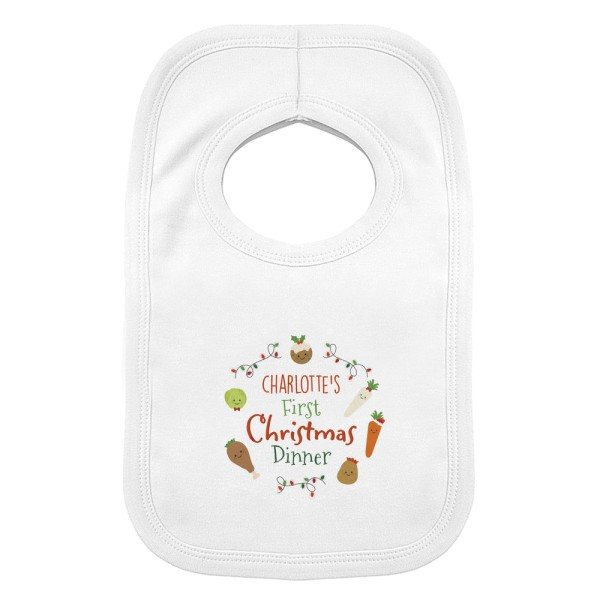 Prezzybox Personalised First Christmas Dinner Bib