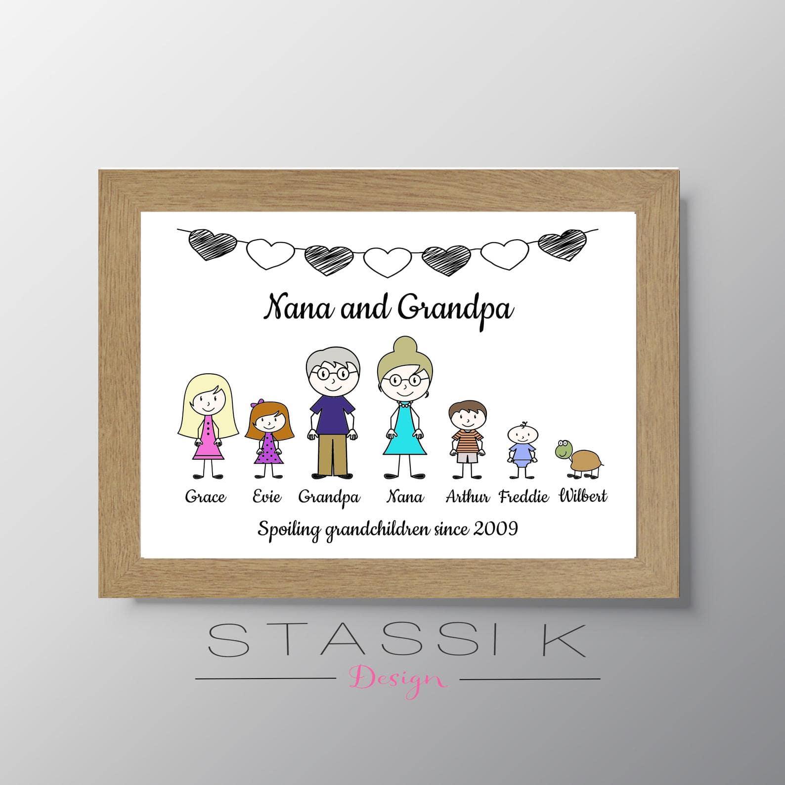 Personalised Grandparents Print - StassiKDesign