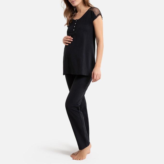 Cotton Maternity And Nursing Pyjamas, La Redoute.