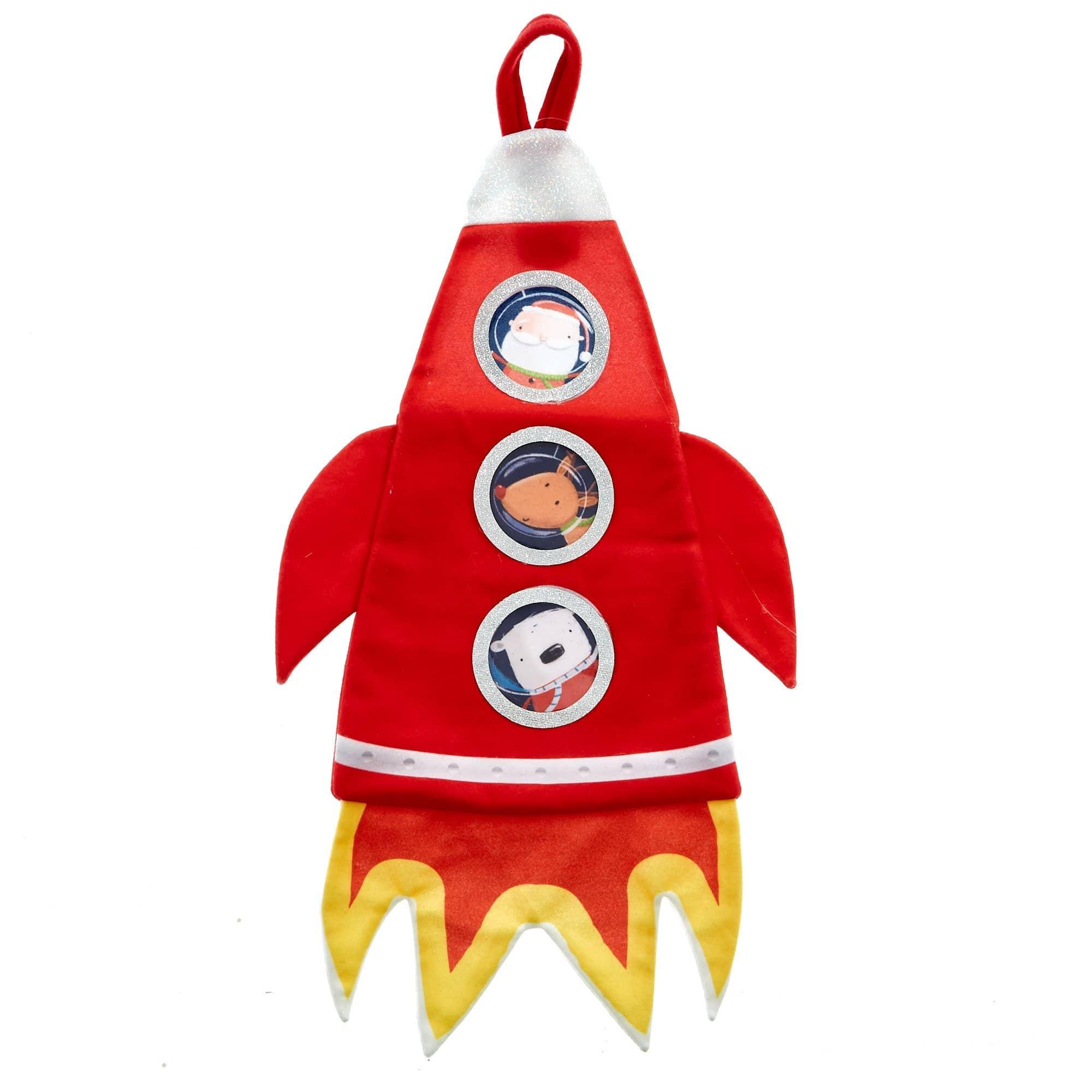 Card Factory Christmas Rocket Stocking.
