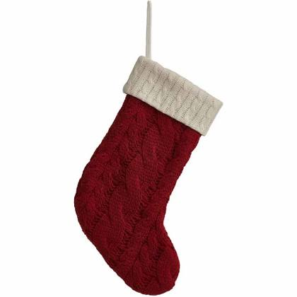 Wilko Traditional Christmas Knitted Stocking.