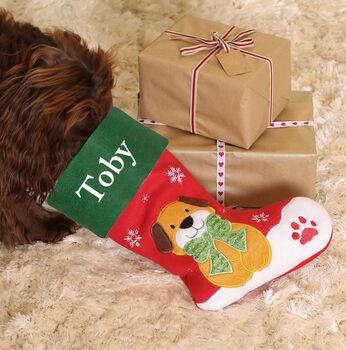 DIBOT Pet Parents Personalised Dog Christmas Stocking.