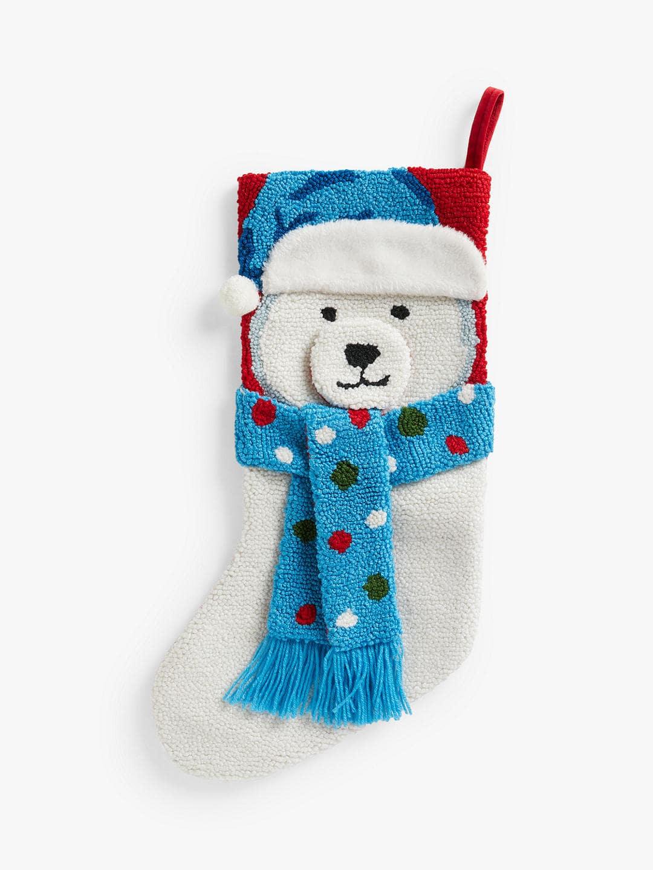 John Lewis & Partners Boucle Polar Bear Stocking.