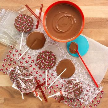 Chocolate At Home Make Your Own Santa Lollipops.