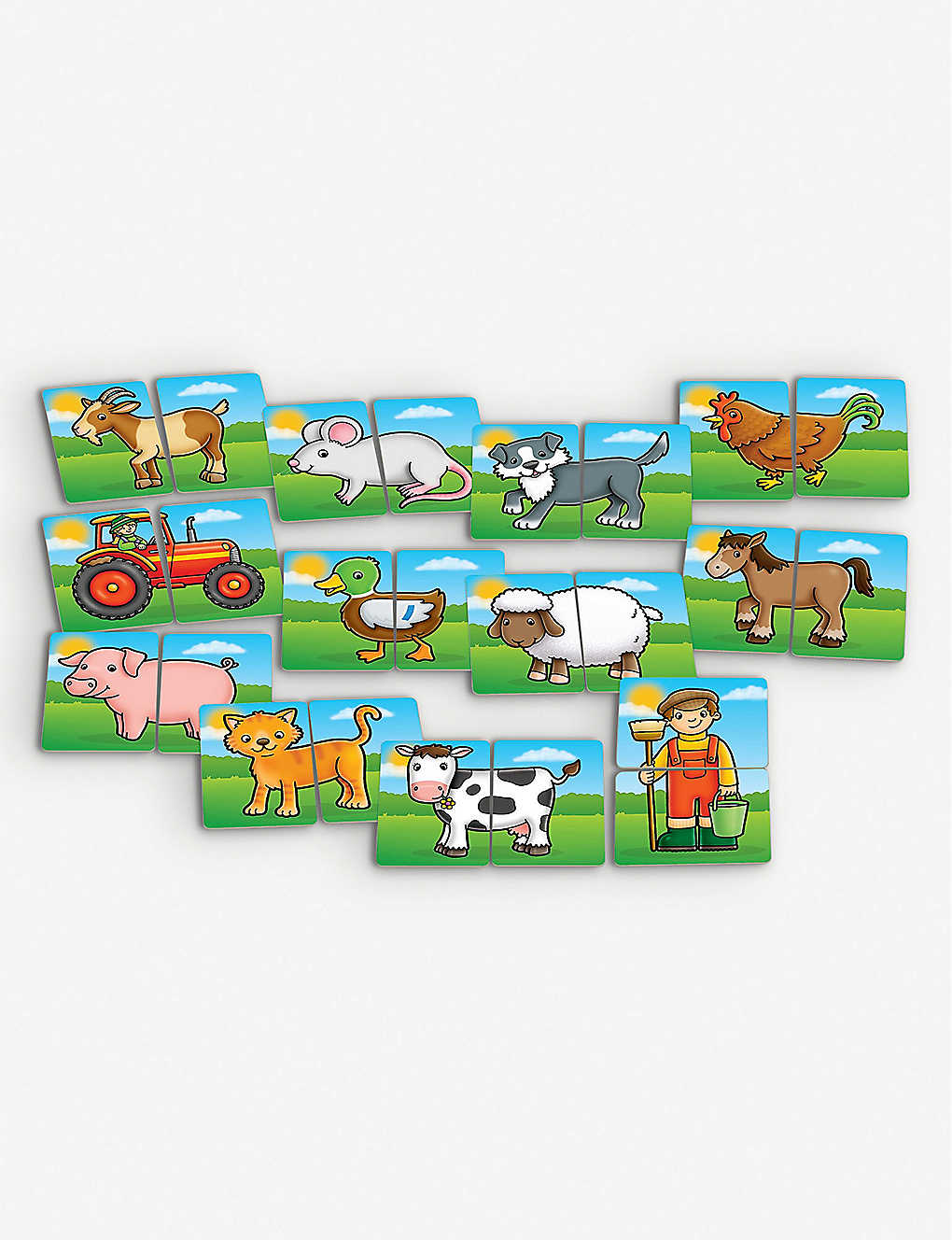 Farmyard Heads And Tails Game.