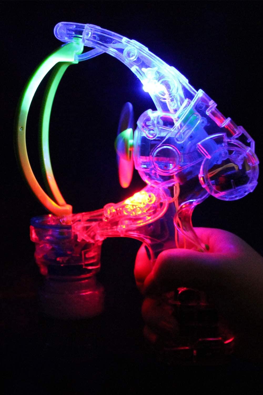 Beamz Delightful Toys LED Light Up Giant Bubble Gun.