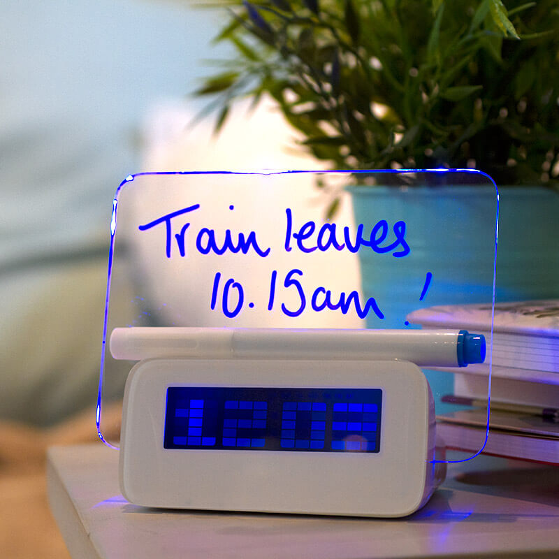 Scribble Writing Alarm Clock.