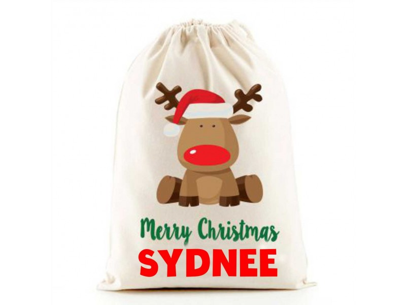 The Lazy Cow Personalised Santa Sack.