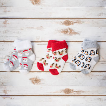 Ruby And Freddies Baby's First Christmas Socks