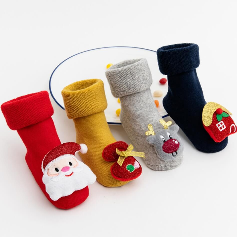 PatPat Baby/Toddler Christmas Knitted Thermal Middle Socks