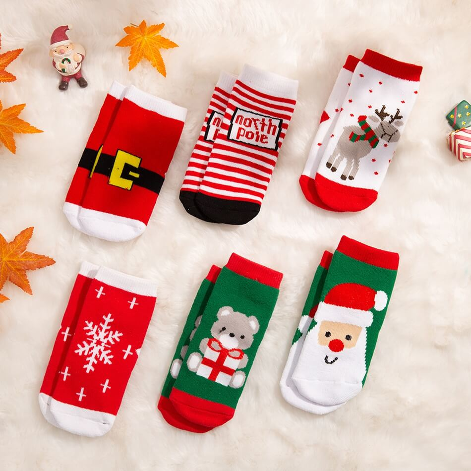 PatPat Baby/Toddler Christmas Cartoon Thermal Socks