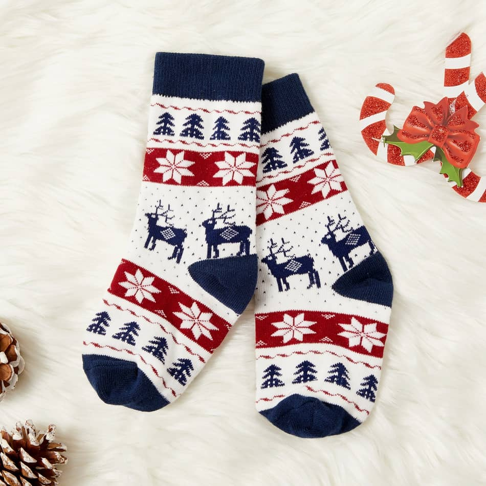 PatPat Baby/Toddler/Kid Plaid Christmas Middle Sock