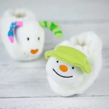 Snowman and Snowdog booties