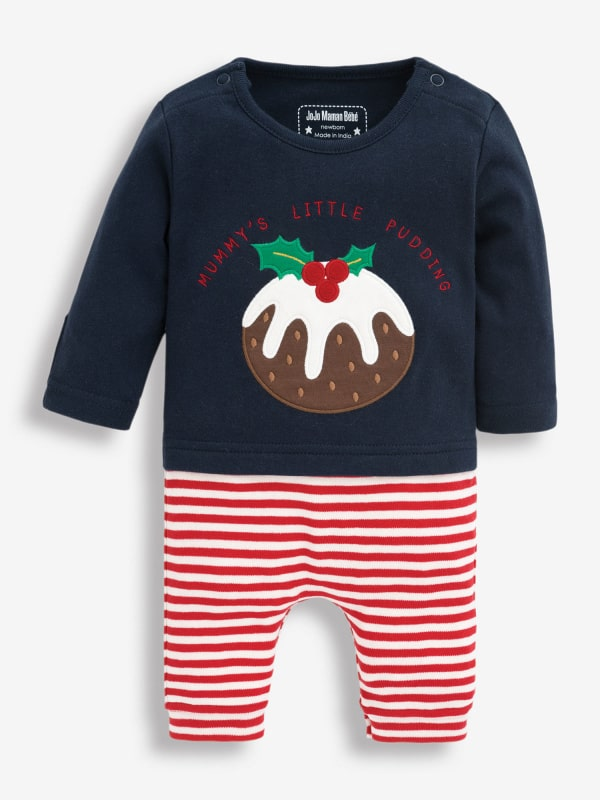 Christmas Pudding Baby Outfit