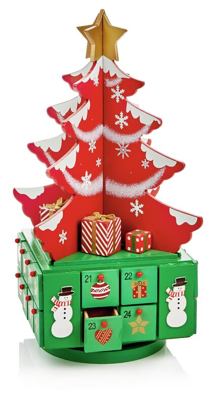 Wayfair Wooden Tree Advent Calendar.