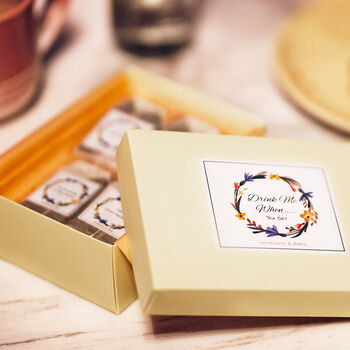 'Drink Me When' Personalised Message Tea Gift Set - Aphrodite & Ares