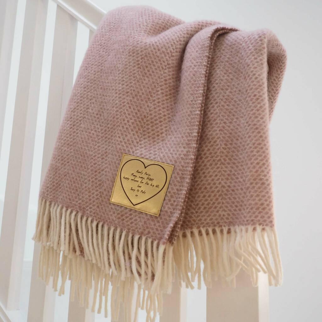 Personalised Wool Throw - Stabo