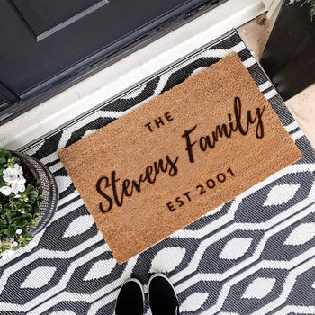 Personalised Family Doormat - That's Nice That