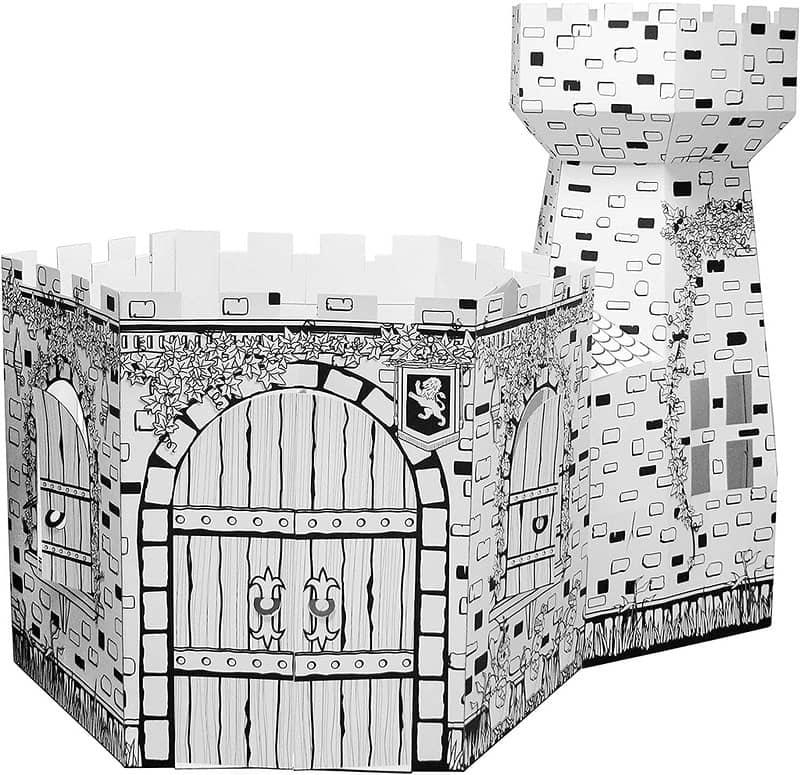 Colour-In Cardboard Playhouse - Castle Tower - Ricco