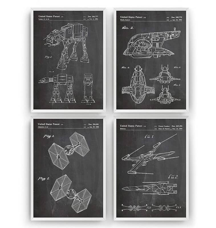 Star Wars Patent Prints Art - Magic Posters