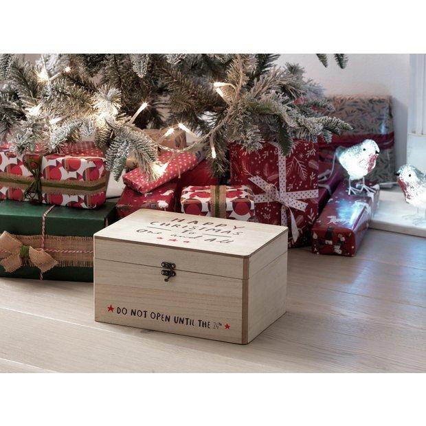 Argos Home Wooden Christmas Eve Box.