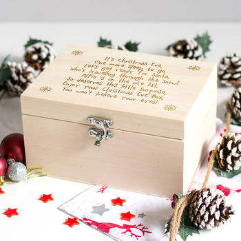 Mirrorin Personalised Christmas Eve Box With Poem.