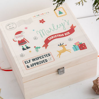 Funky Laser Personalised Children's Santa Christmas Eve Box.