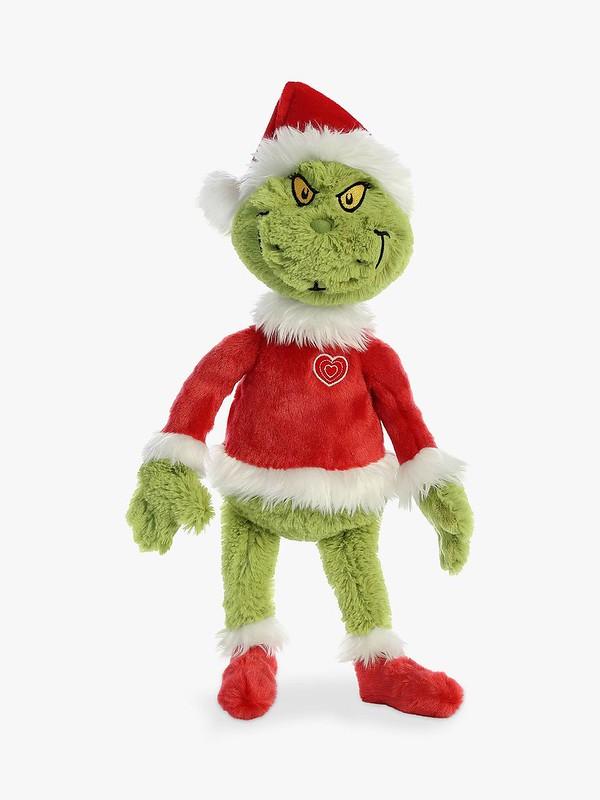 Dr. Seuss The Grinch Santa Soft Toy - John Lewis