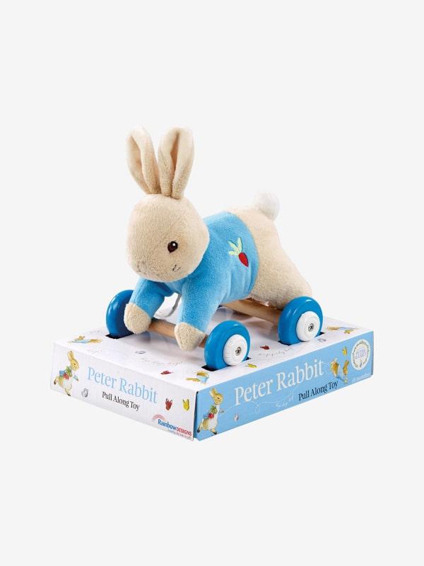 Peter Rabbit Plush Wooden Pull Along - Jojo Maman Bébé