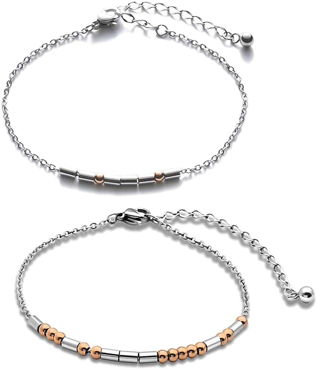 Personalised Morse Code Bracelet - Jingmaruo